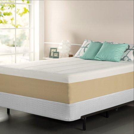 priage green tea 14 inch queen size memory foam mattress. Black Bedroom Furniture Sets. Home Design Ideas