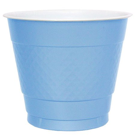 Hanna K Plasticware Plastic Cup, 9 Oz, Light Blue, 50 Ct