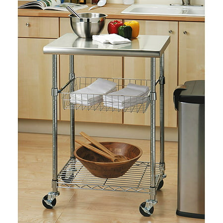 Seville Clics Stainless Steel Top Kitchen Cart