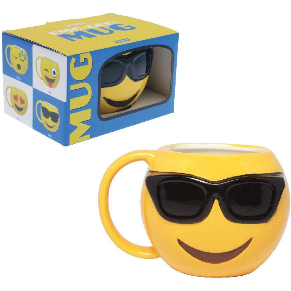 Emo-Gee Cool Sunglasses Emoji 3D Ceramic Mug