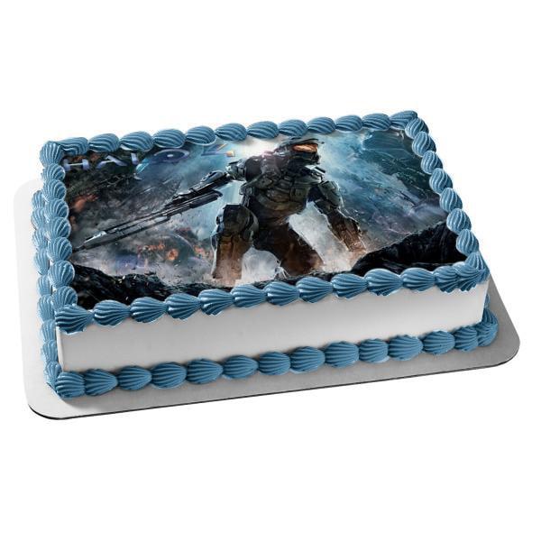 Fantastic Halo 4 Master Chief Edible Cake Topper Image Walmart Com Birthday Cards Printable Nowaargucafe Filternl