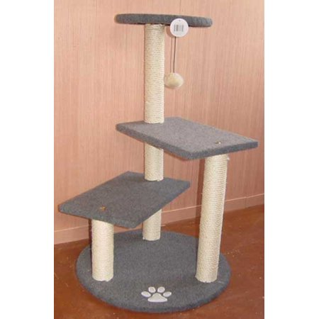 3 step cat tree scratching post w toy furniture condo for Cat tree steps