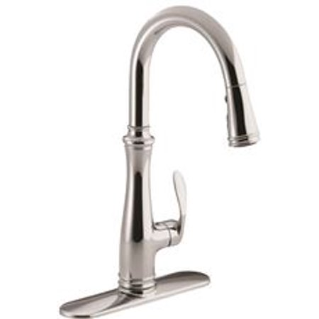 KOHLER BELLERA PULLDOWN KITCHEN FAUCET WITH PULL-DOWN SPOUT AND RIGHT-HAND LEVER HANDLE, POLISHED CH