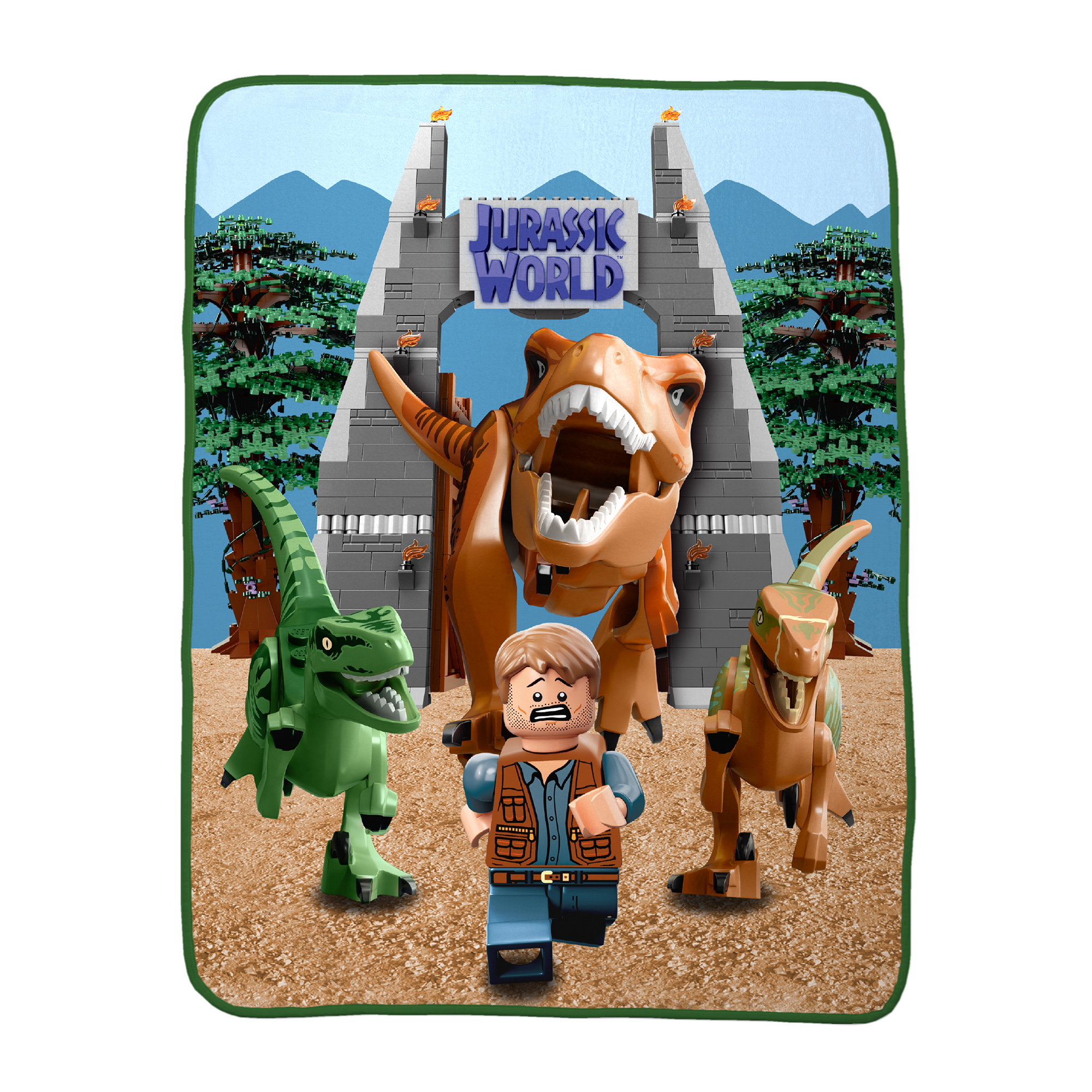 Lego Jurassic World Build & Run Kids Bedding, Silky Soft Throw, 1 Each