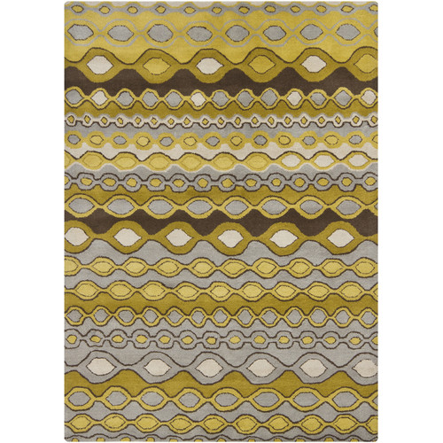 Chandra Rugs Gagan Gold/Yellow Area Rug