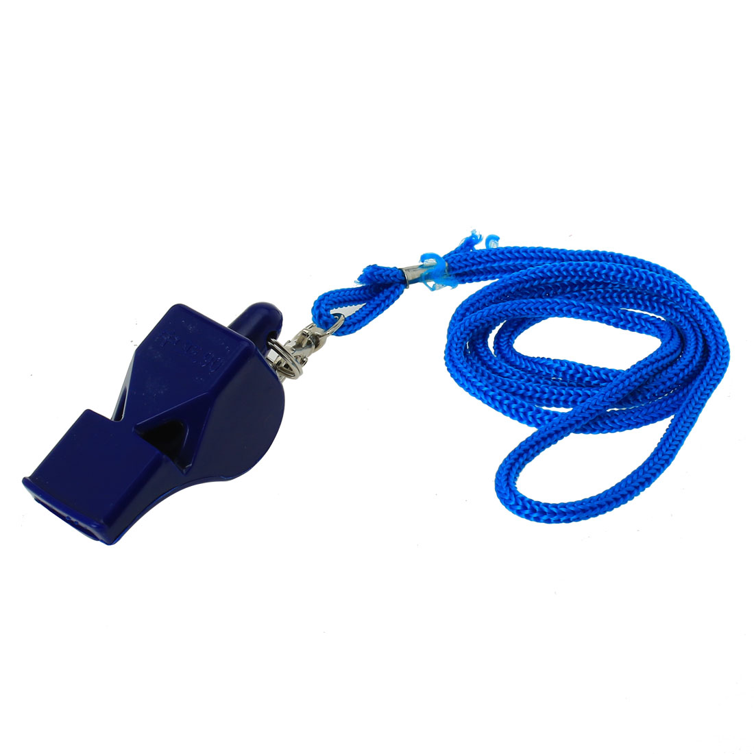 Outdoor Activities Portable Plastic Referee Whistle Blue w Lanyard