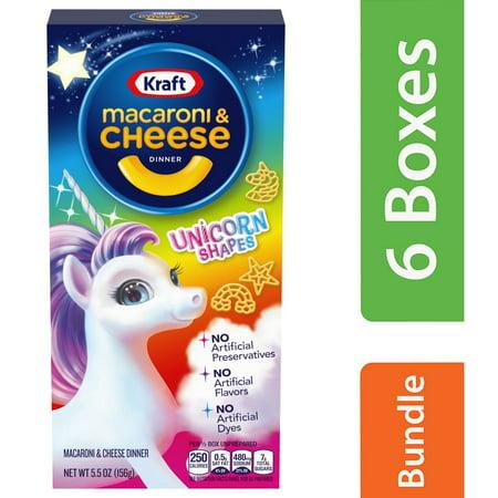 Kraft Dinner Halloween ((6 Pack) Kraft Unicorn Shapes Macaroni & Cheese Dinner - 5.5 oz)