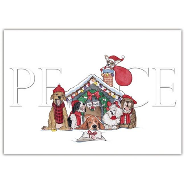 Pipsqueak Productions C593 Howliday Peace Mix Dog Holiday Christmas Boxed Cards - Pack of 10