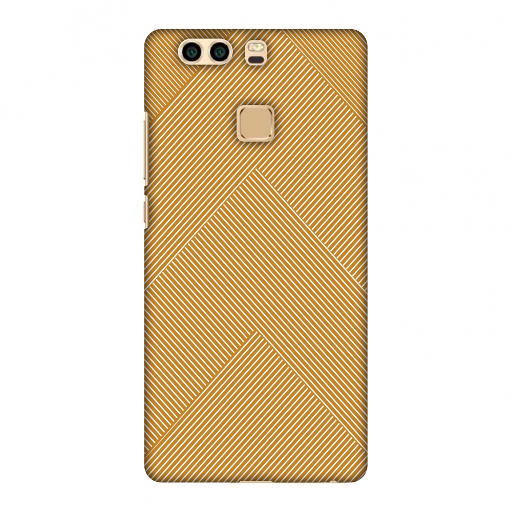 Huawei P9 Plus Case, Premium Handcrafted Printed Designer Hard Snap on Shell Case Back Cover for Huawei P9 Plus - Carbon Fibre Redux Desert Sand 4