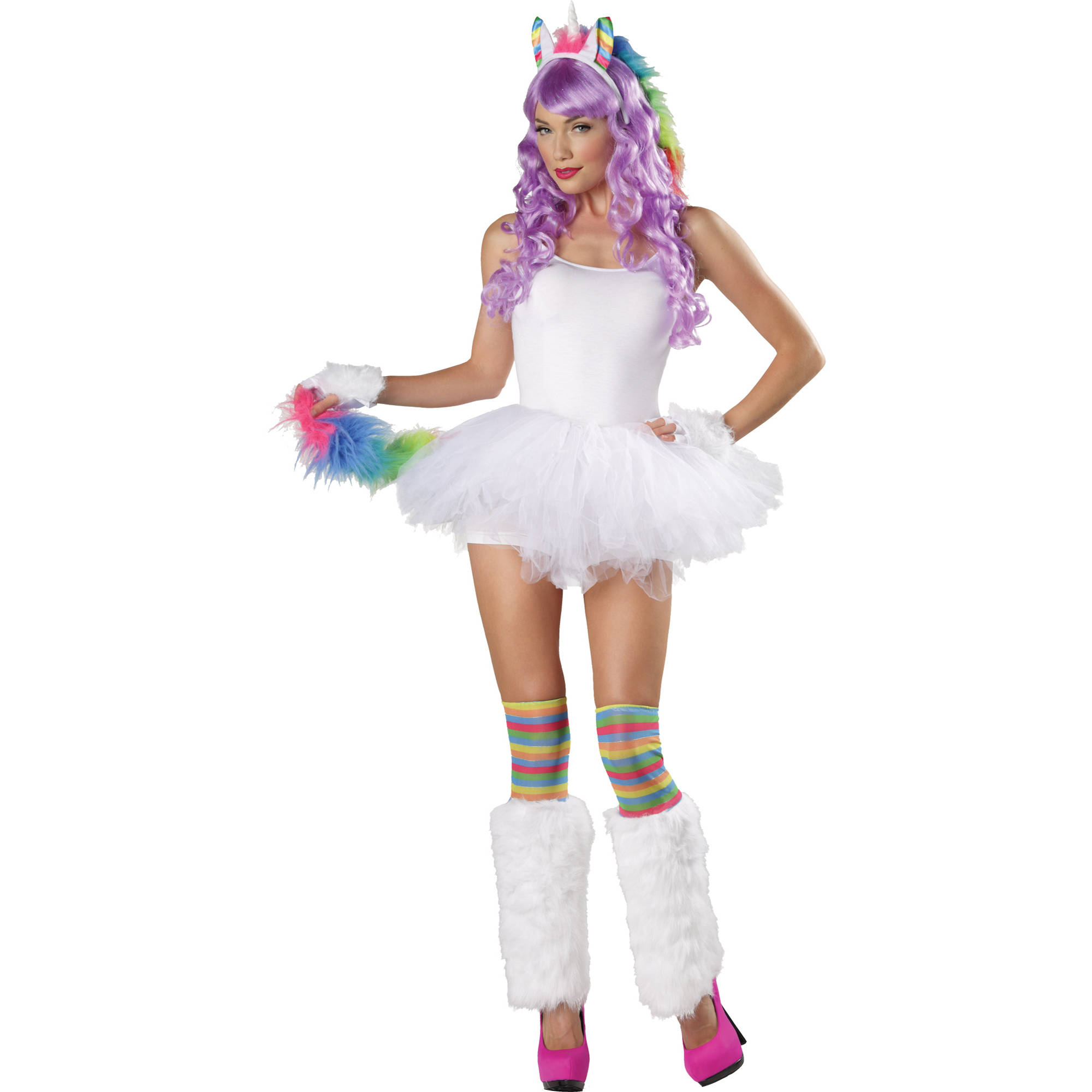 Unicorn Rainbow 4-Piece Kits Adult Halloween Accessory