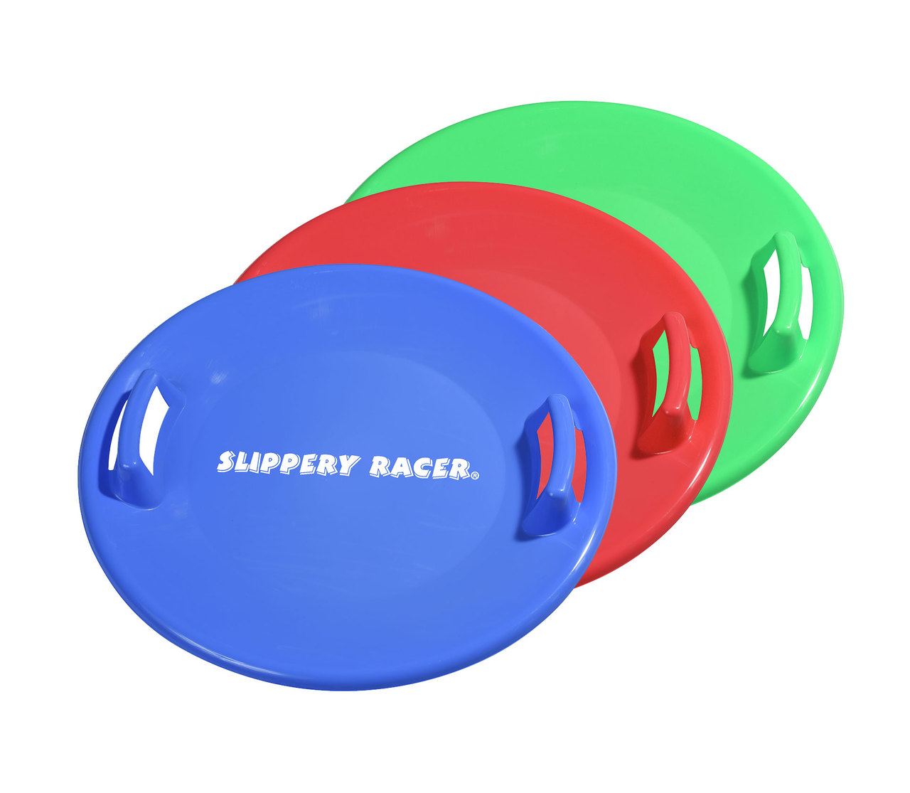 Slippery Racer Downhill Pro Disc Saucer Sled 3 PACK by Slippery Racer