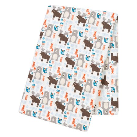 (Product of Trend Lab Jumbo Deluxe Flannel Swaddle Blanket, Scandi Forest - Baby Blankets [Bulk Savings])