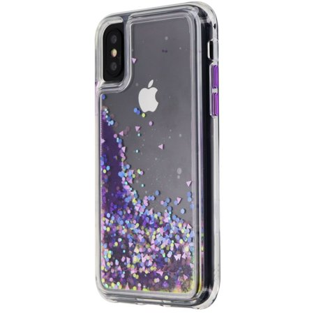 - Case-Mate Glow Waterfall Case for iPhone XS / X - Purple Glow