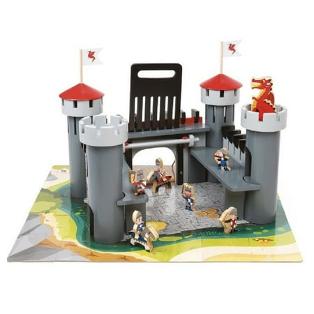 Super Set Castle - Alex Wooden Dragon Castle Set, 55 Pieces