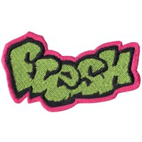 f4e7a9f7073 Product Image Fresh Graffiti Logo Iron On Applique Patch