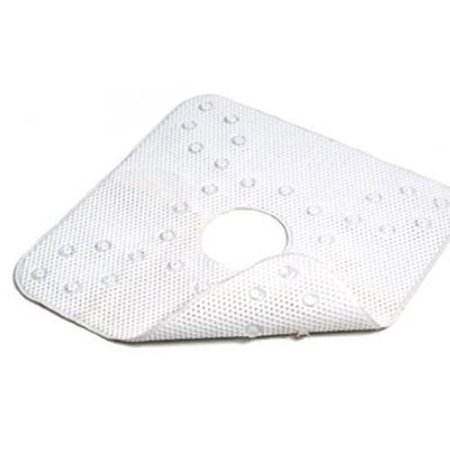 Kittrich Corp Shower Mat White Rubber 21 X 21 In Smat