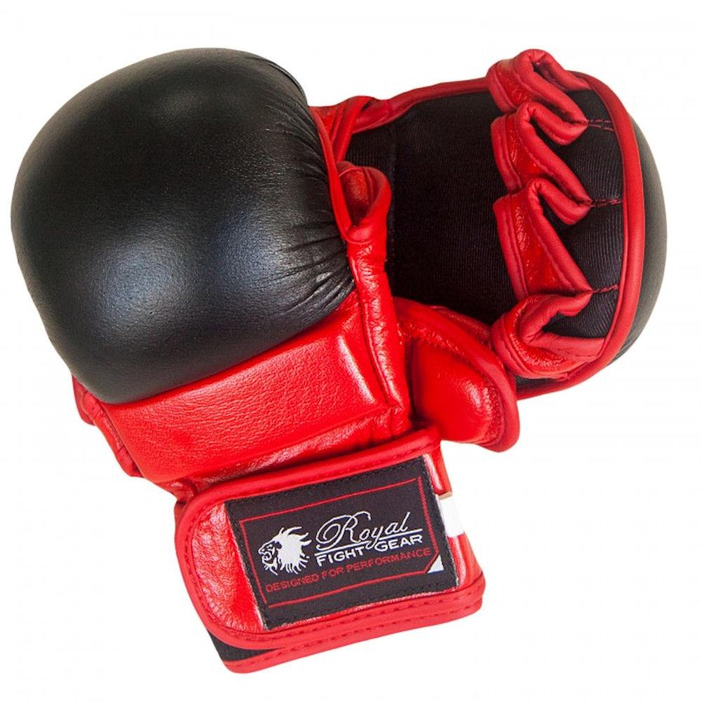 ROYAL FIGHT GEAR MMA LEATHER TRAINING GLOVES
