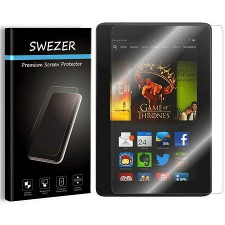 Amazon Kindle Fire HDX 7 (3th Gen, 2013 Release) [SWEZER] Tempered Glass Screen Protector, Anti-Scratch, Anti-Bubble, Anti-Chip Edge ()