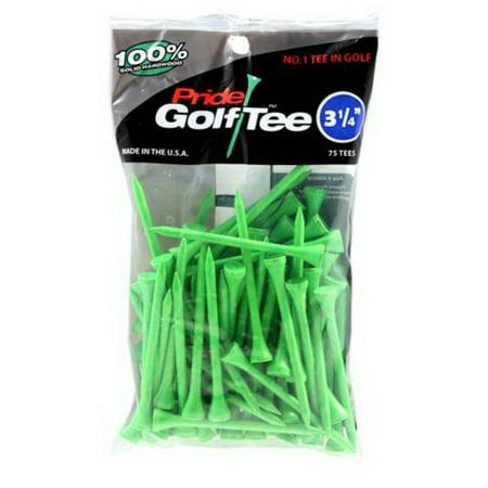 Boss Green Golf - Pride Golf Tee, 3-1/4 inch Deluxe Tee, 75 Count, Citrus Green