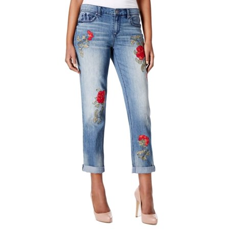Vintage America Blues NEW Womens 12R Stretch Embroidered Boyfriend Jeans