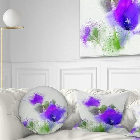 DESIGN ART Designart 'Bouquet of Blue Watercolor Flowers' Floral Throw (Blue Floral Bouquet)