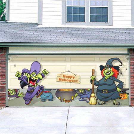 The Holiday Aisle Halloween Witch Escape Garage Door Mural