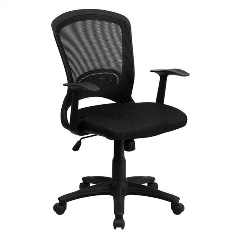 Scranton & Co Mid-Back Mesh Office Chair with Padded Seat in Black - image 2 de 2