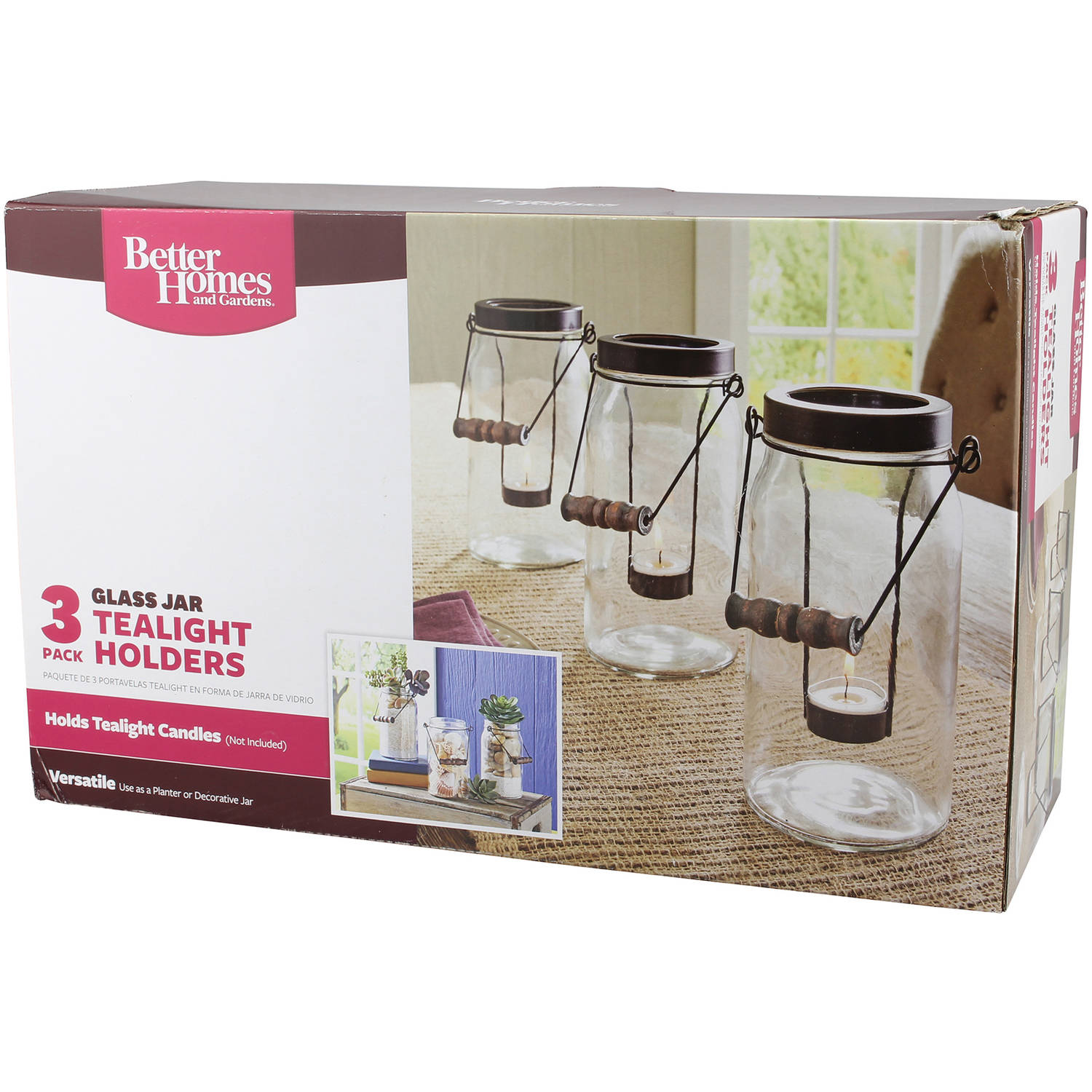 Better Homes and Gardens 3-Pack Jar Tealight