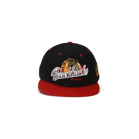 Chicago Blackhawks Snap - Chicago Blackhawks NHL Vintage Black Tricky Lou MVP Snap Back Hat