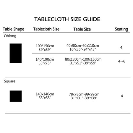 Tablecloth Polyester Table Cover Oil Stain Resistant Table Cloth 39 Quot X 59 Quot 1