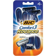 BIC Comfort 3 Advance Men's Disposable Razor, 4 Count