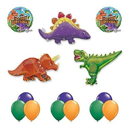 The Ultimate 14 pc Giant Dinosaur Birthday Balloon Kit (Dinosaur Balloons)