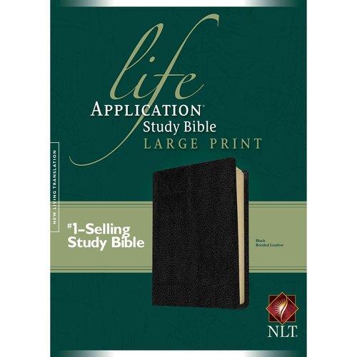 Life Application Study Bible: New Living Translation, Black Bonded Leather, Large Print