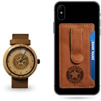 Houston Astros Sparo Wood Watch and Phone Wallet Gift Set - No Size