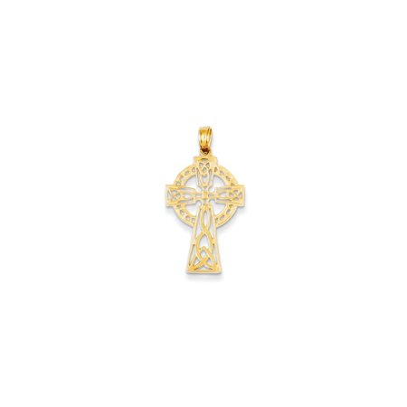 14kt Yellow Gold Irish Claddagh Celtic Knot Cross Religious Pendant Charm Necklace Iona Fine Jewelry Ideal Gifts For Women Gift Set From Heart