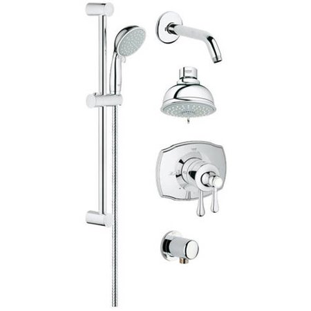 (Grohe 35053000 GrohFlex Pressure Balance Valve Shower Trimset, Available in Various Colors)