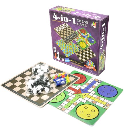 4-In-1 Board Game Toy Chess Game Toy Set for Kids Learning and Educational Toys - Children Learning Games