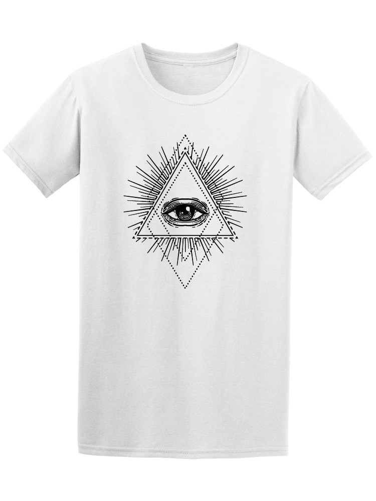Image by Shutterstock All Seeing Eye Triangle Men/'s Tee