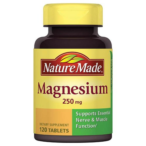 Nature Made Magnesium Dietary Supplement Tablets, 250mg, 120 count