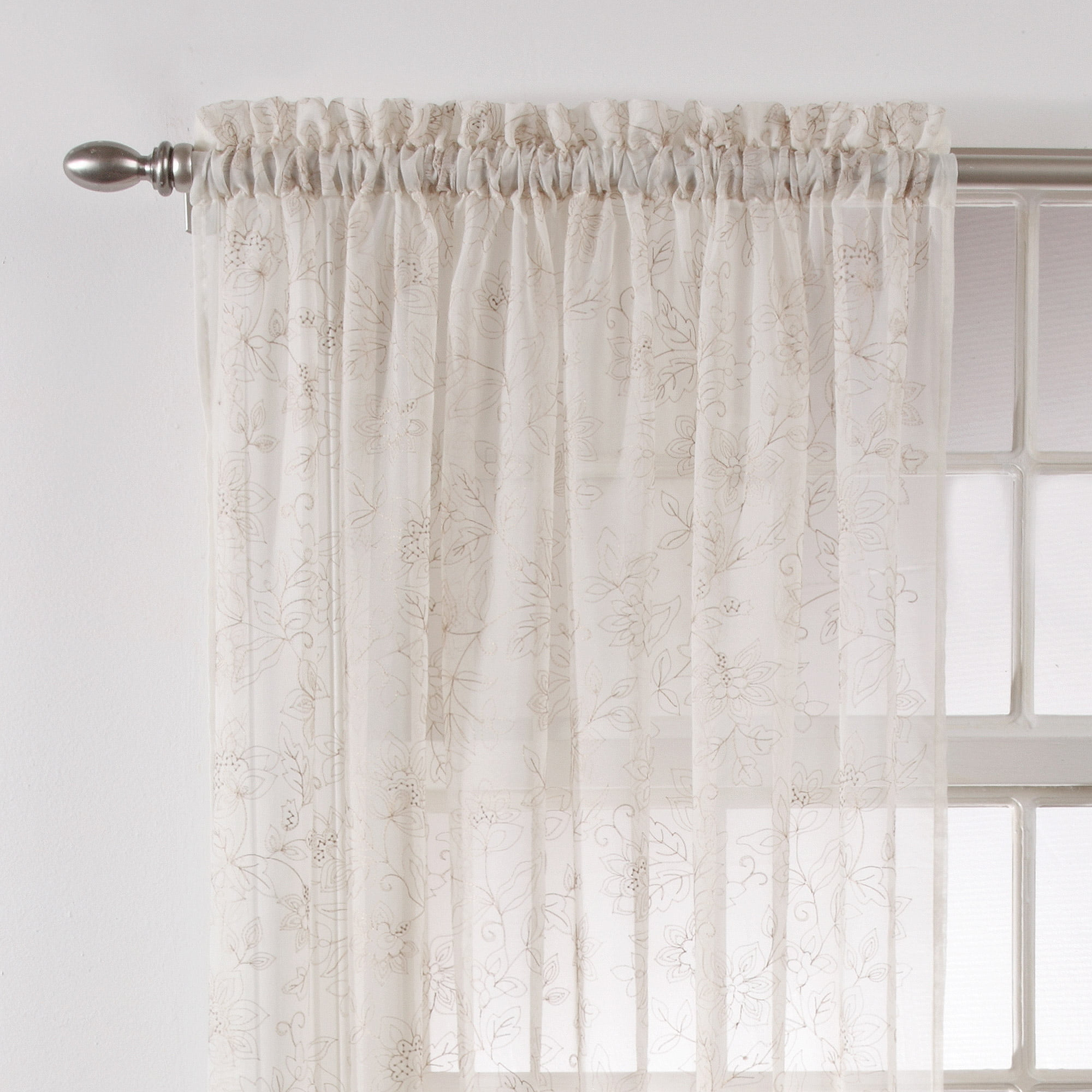 embroidered floral white p pattern classical sheer curtain curtains