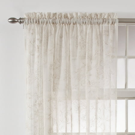 Width Of Curtain Using Rings On Poles