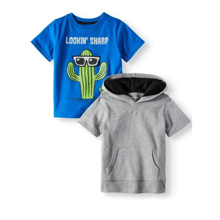 Garanimals Hoodie & Graphic T-Shirt, 2pc Multi-Pack (Toddler Boys)](Clearance Toddler Boy Clothes)