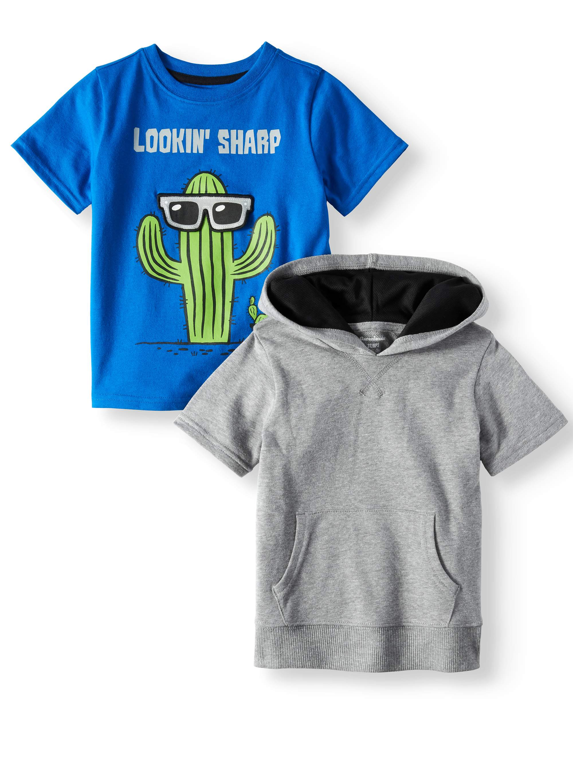 Toddler Boys' Hoodie and Graphic T-Shirt, 2-Piece Multi-Pack