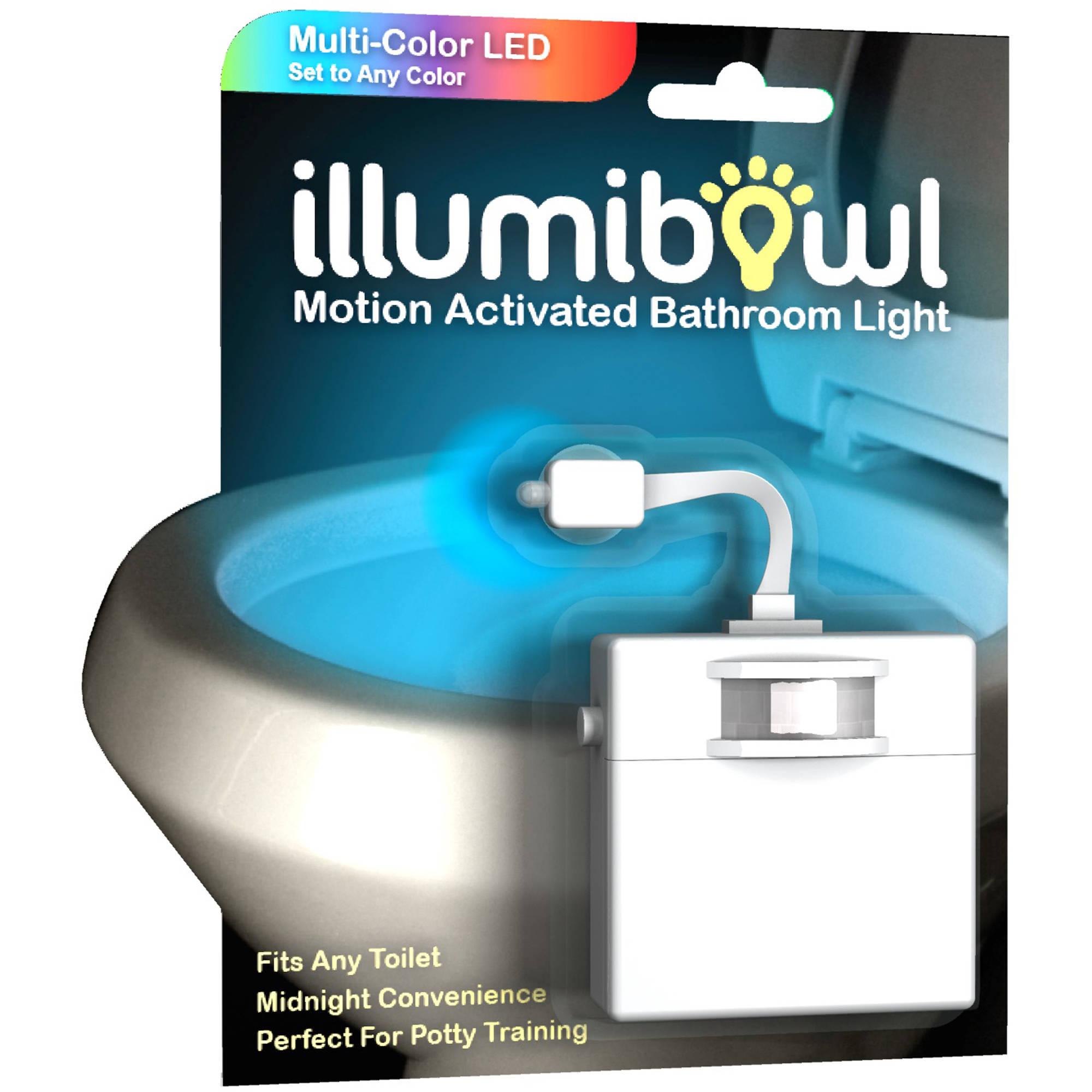 Bathroom Lighting Fixtures Walmart illumibowl motion-activated bathroom toilet night light - walmart