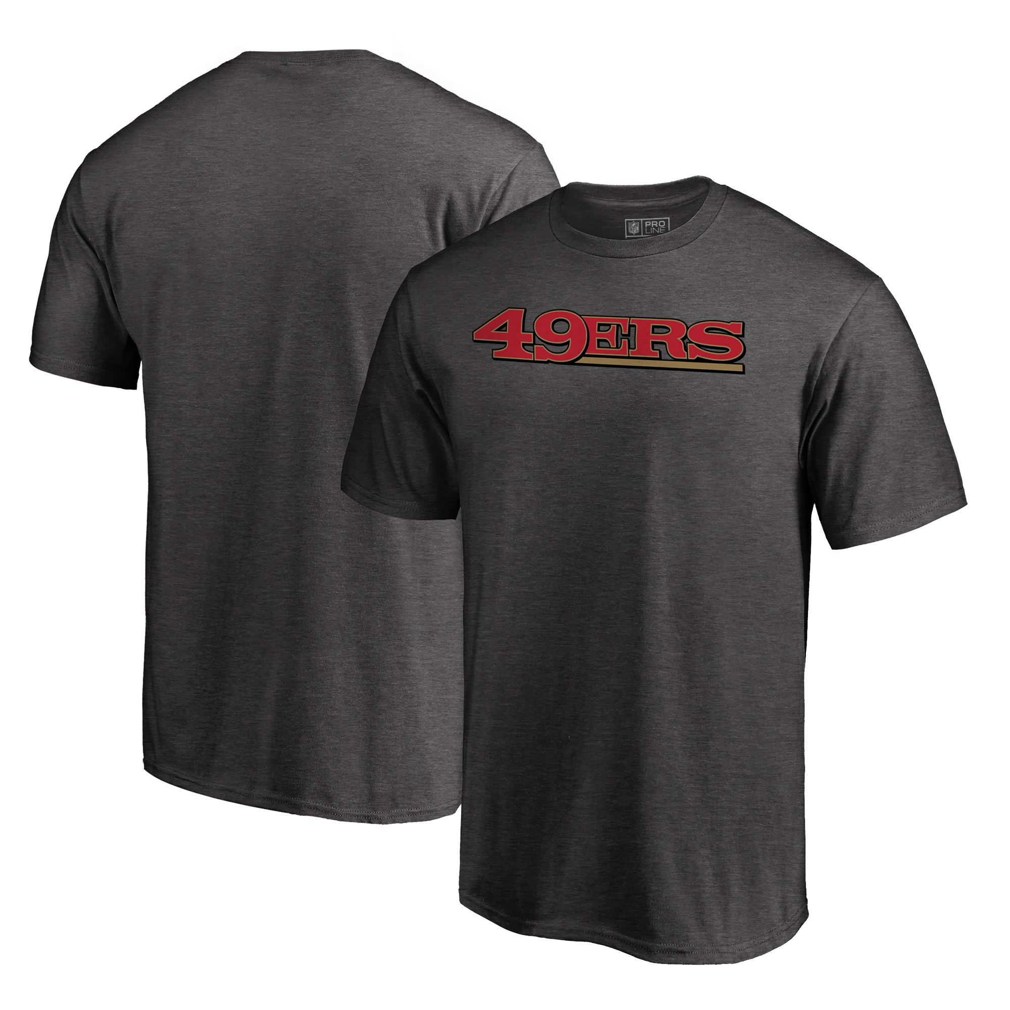 San Francisco 49ers NFL Pro Line by Fanatics Branded Wordmark Big & Tall T-Shirt - Heathered Gray