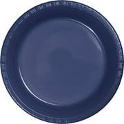 Navy Plastic Dessert Plates, 20-Pack