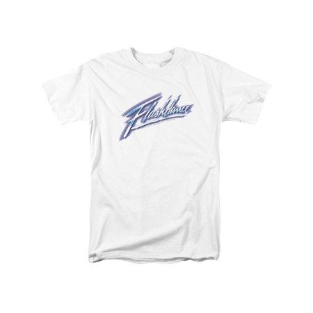 Flashdance Jennifer Beals Romantic Drama Dance Movie Logo Adult T-Shirt (Jennifer Aniston White T Shirt)