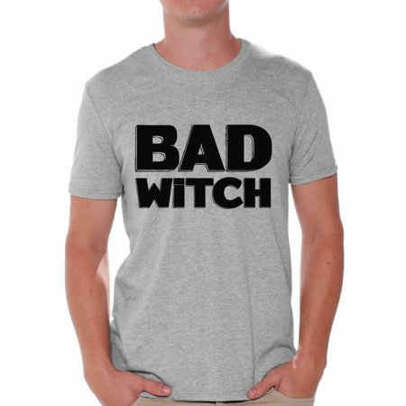 Awkward Styles Bad Witch Shirt Halloween Witch Tshirt Funny Halloween Shirts for Men Dia de los Muertos T Shirt Halloween Themed Holiday Shirts Day of the Dead Gifts for Him Trick or Treat Gifts - Halloween Theme Days Work