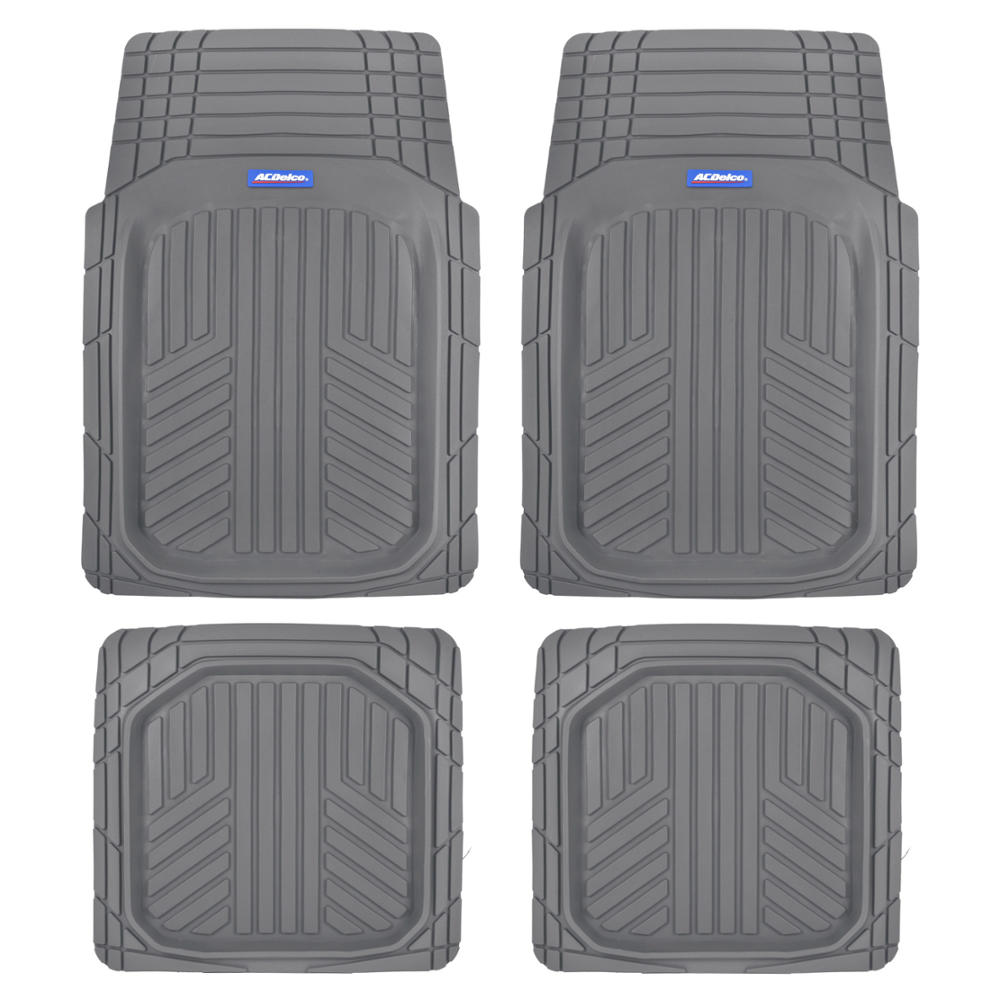 ACDelco Deep Dish Rubber Floor Mats-Heavy Duty Performance for Car, Truck, Suv-4-Piece Set-Thick, Odorless and All Weather