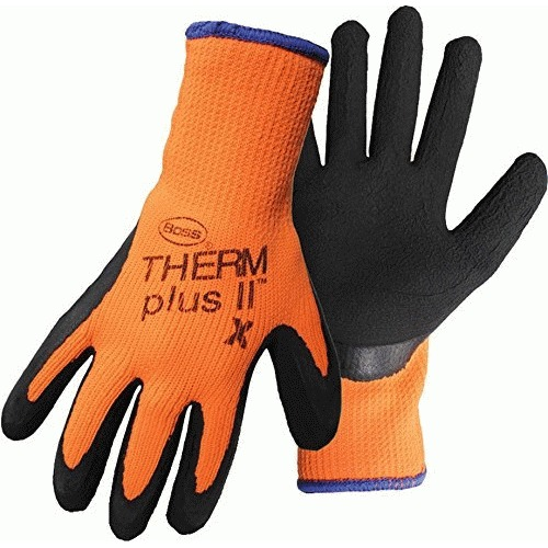 Boss GLOVE LATEX CTD PALM ORANGE XL